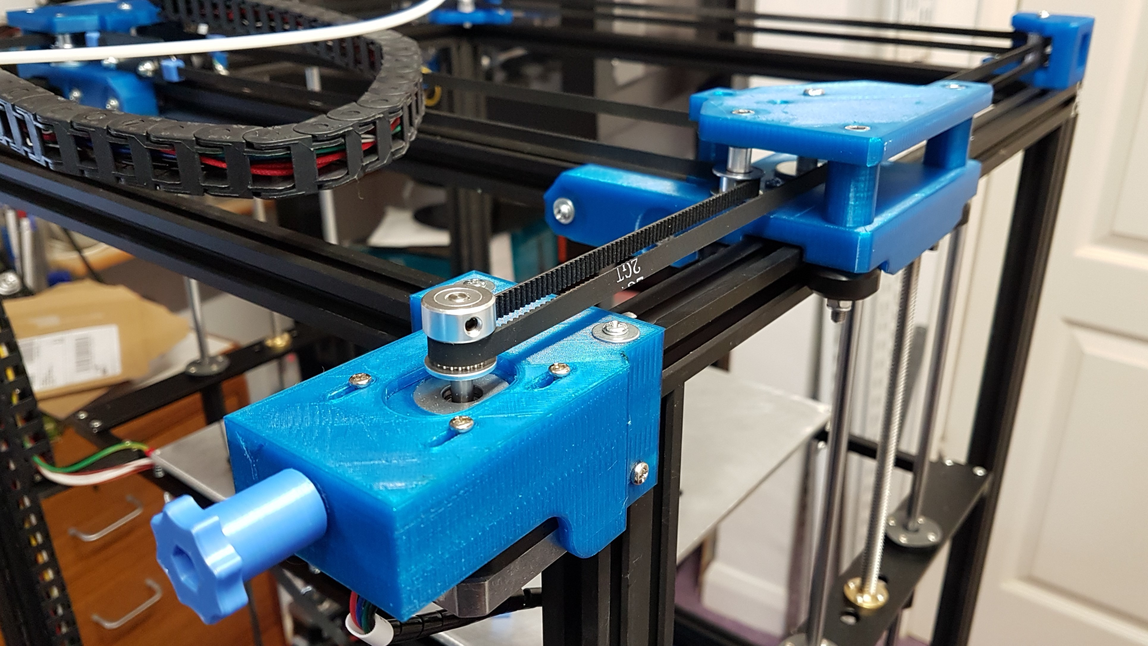 motor_mounts_Y_motor.jpg Download free STL file Tronxy X5S Belt geometry aligned screw adjust motor mounts • Design to 3D print, gnattycole