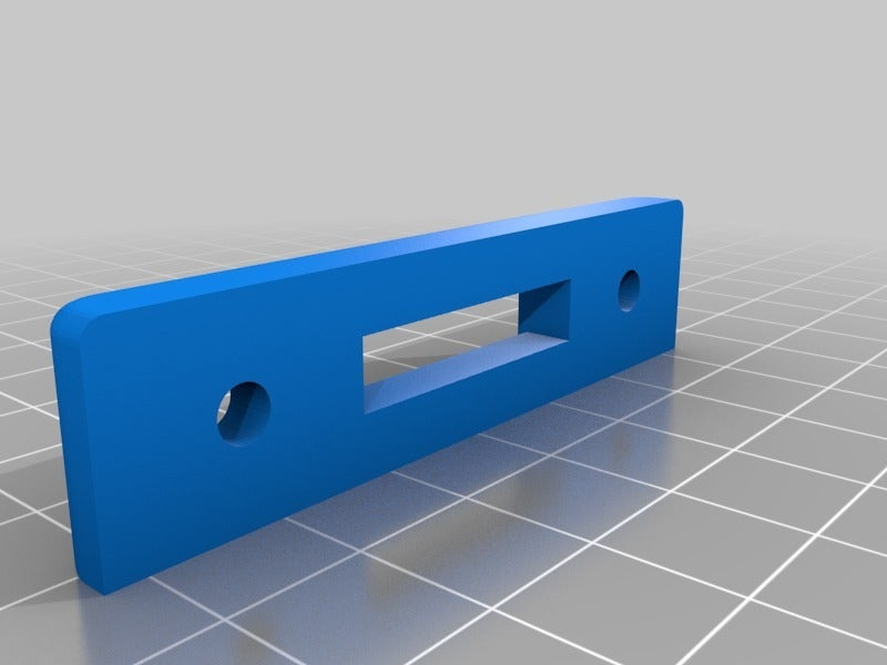 bee0c1eff39cb29e2e36fed9bfb095b3.png Download free STL file IKEA Lack Door handle and latch mount • 3D printer template, gnattycole
