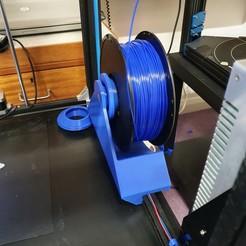rear spool holder for X5S.jpg Download free STL file Tronxy X5S rear spool holder and PSU reorientation kit. • 3D printer model, gnattycole