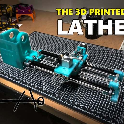 Télécharger fichier STL gratuit 3D Printed Lathe • Plan à imprimer en 3D, TheContrappostoShop