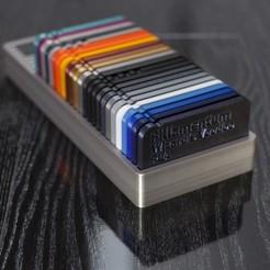 IMG_1935_w2700.jpg Télécharger fichier STL gratuit Box with Filament Samples • Plan imprimable en 3D, Zapador