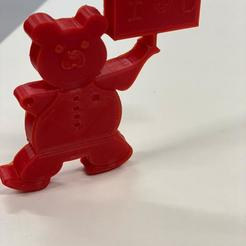 Download free 3D printer designs Fynn Teddy Bear Keychain - A Valentine's day gift, nandu1338