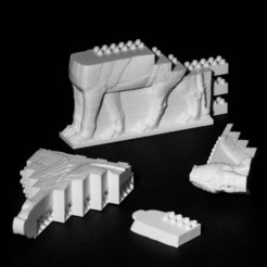 Web_810_6898.jpg Download free STL file Montini Assyrian Winged Bull Wall Set (Lego Compatible) • 3D printer model, leftspin