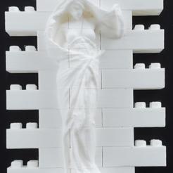 Télécharger modèle 3D gratuit Montini Nature se dévoile devant le mur de la science (compatible Lego), leftspin