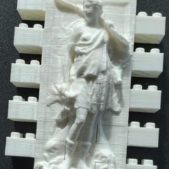 Impresiones 3D gratis Juego de la Diosa Montini Diana de la Muralla Oceánica (Lego Compatible), leftspin