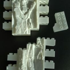 Descargar diseños 3D gratis Juego de pared del Reinado de Sargón II de Montini (compatible con Lego), leftspin