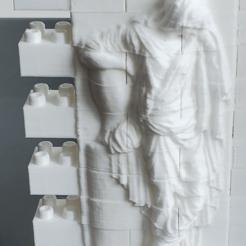 Descargar archivos STL gratis Juego de paredes para lápidas de la Princesa Sofía Montini (compatible con Lego), leftspin