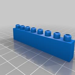 Descargar Modelos 3D para imprimir gratis Ladrillos de construcción Montini Un juego de pipa (compatible con Lego), leftspin