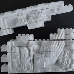 Descargar archivo 3D gratis Juego de pared del León Montini (compatible con Lego), leftspin