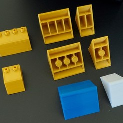 20200225_105738.jpg Download free STL file Montini Building Bricks Roof Pieces (Lego Compatible) • Design to 3D print, leftspin