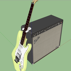Download free 3D model Guitar and Bass Amp Rest Pocket Stand, OneFour3