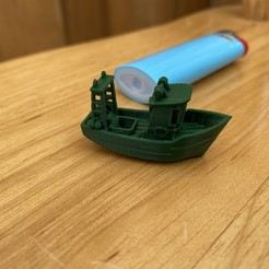 Download free 3D printer designs FIN the little Trawler (visual benchy), jyc35