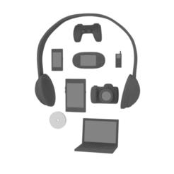 electronics_render.png Télécharger fichier STL Pack d'objets pour figurines de chibi nendoroid (électronique) • Design pour imprimante 3D, RepliKraft