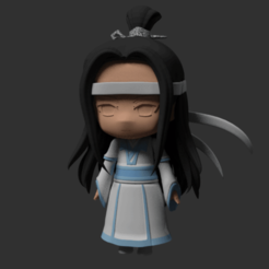 Impresiones 3D Nendoroid type Modular Anime Chibi Lan Wangji (young version), RepliKraft