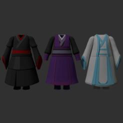 render.png Télécharger fichier STL Nendoroid Traditional Asian Clothes Pack • Plan imprimable en 3D, RepliKraft