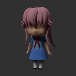 Impresiones 3D gratis Nendoroid type Modular Anime Chibi Yuno Gasai, RepliKraft