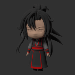 Descargar archivos 3D Nendoroid type Modular Anime Chibi Figurine 1 Wei Wuxian (young version), RepliKraft
