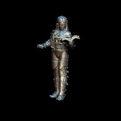 Download free STL files Female Sorceress, gepardowaty