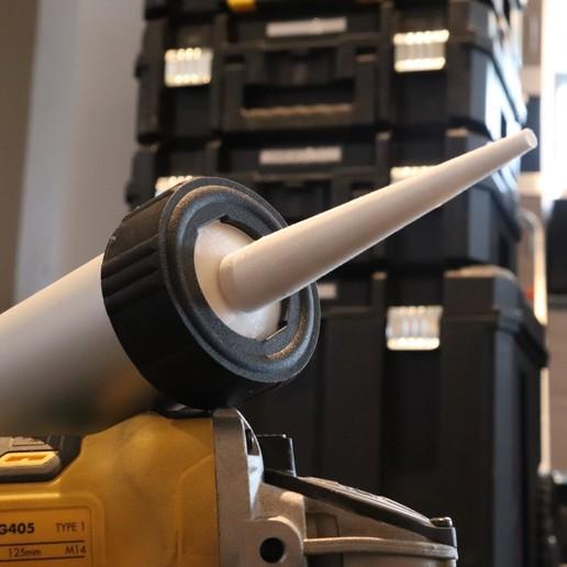 Download free STL sealing gun nozzle, DadsDiy