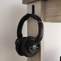 Download free STL Headphone hook, hyprogen