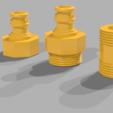 Download free STL file garden hose connectors • 3D printer design, Cozi_Officiel