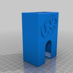 Uno_Case.png Download free STL file UNO/UNO FLIP Card deck case • 3D print object, JannisJFry