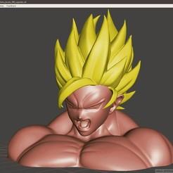 Download free 3D printer model Goku bust, jpo41