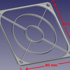 Download free STL files Fan grille 80mm by 80mm, jpo41