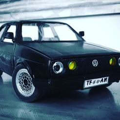 Descargar archivos 3D VW Golf MK2 For RC WPL or scale RC and model cars, scalextric, etc, _Placi2_