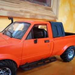 tam box 2.jpeg Download STL file Toyota Hilux Tamiya Bruiser style cab for WPL C24 • 3D printing object, _Placi2_