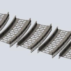 bridges.jpg Télécharger fichier STL Pont à poutrelles à l'échelle OO/HO • Design imprimable en 3D, Mephistopheles_3D