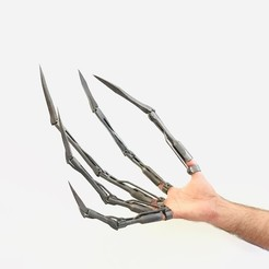 Download 3D printer templates Skelington Articulated Finger Extensions Mixed (Pictured), Mephistopheles_3D