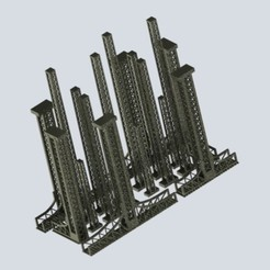 Annotation 2020-06-12 232616.jpg Download STL file OO/HO Scale Latice Signal Tower • 3D printer model, Mephistopheles_3D