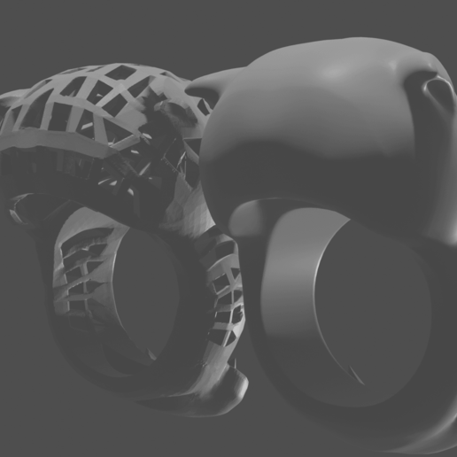 render 6.png Download free STL file anillos pantera • 3D printable template, mauri94cio
