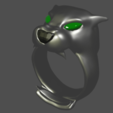 render 7.png Download free STL file anillos pantera • 3D printable template, mauri94cio