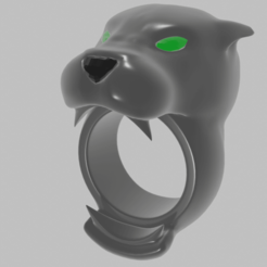 Download free 3D printer designs anillos pantera, mauri94cio