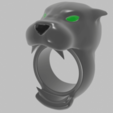 render 1.png Download free STL file anillos pantera • 3D printable template, mauri94cio