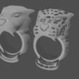 render 4.png Download free STL file anillos pantera • 3D printable template, mauri94cio