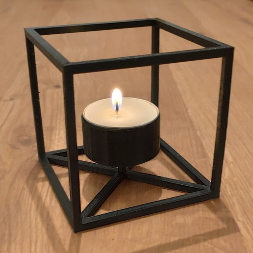 Download 3D printer designs Cubic candleholder, tresdeprint