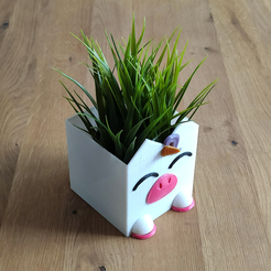 Download 3D printing templates Customizable planter unicorn-horse kit, tresdeprint