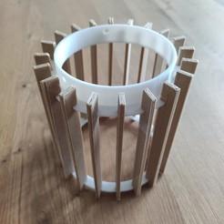 Download STL file Laser cut style lamp fan, tresdeprint