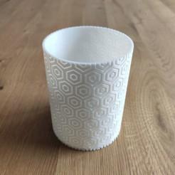 Imprimir en 3D Hexagonal pattern pen holder, tresdeprint