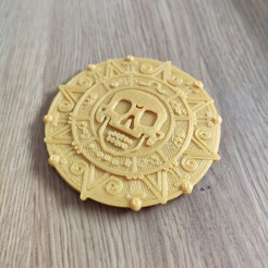 Download 3D printer templates Pirates of the caribbean aztec coin, tresdeprint