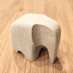 Download 3D printing templates Minimalist elephant, tresdeprint