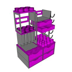 bigboss1.png Télécharger fichier STL  BIG BOSS meuble rangement pour cigarette électronique • Plan pour imprimante 3D, derf35