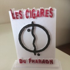 Teken Front.jpg Download STL file Tintin Sign from Cigars of the Pharaoh • 3D printer model, janhoog1954