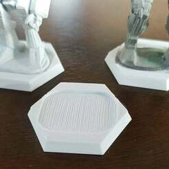 base.jpg Download free STL file Miniature Hex Base adapter for old metal minis • 3D printer object, Tinnut