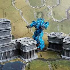 20201218_125456.jpg Download free STL file Sci-Fi Offices for 6mm / 1:285 scale gaming sample • 3D printing design, Tinnut
