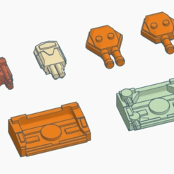 lances.png Download free STL file Alternate Lance batteries for Italianmoose's Chaos Ships • 3D printable template, Tinnut