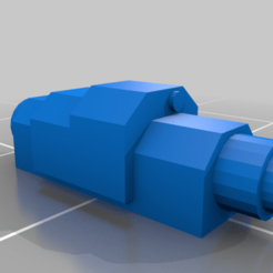 Hunter_weapon.png Download free STL file Epic scale Hunter proxy - missile with slot • Template to 3D print, Tinnut